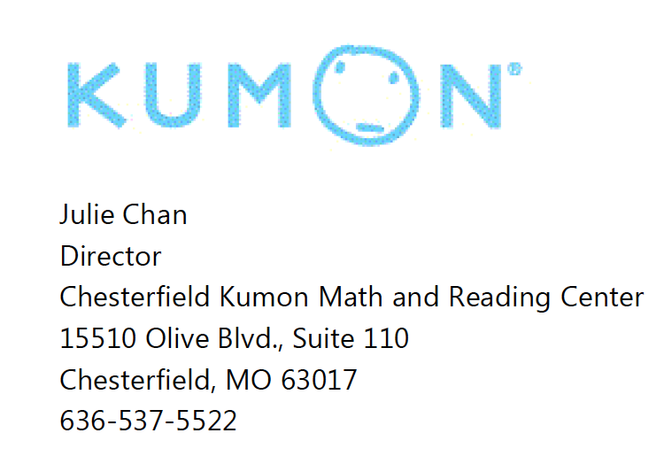 Kumon Chesterfield Center